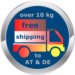 free shipping on orders over 10 kg to Austria and Germany